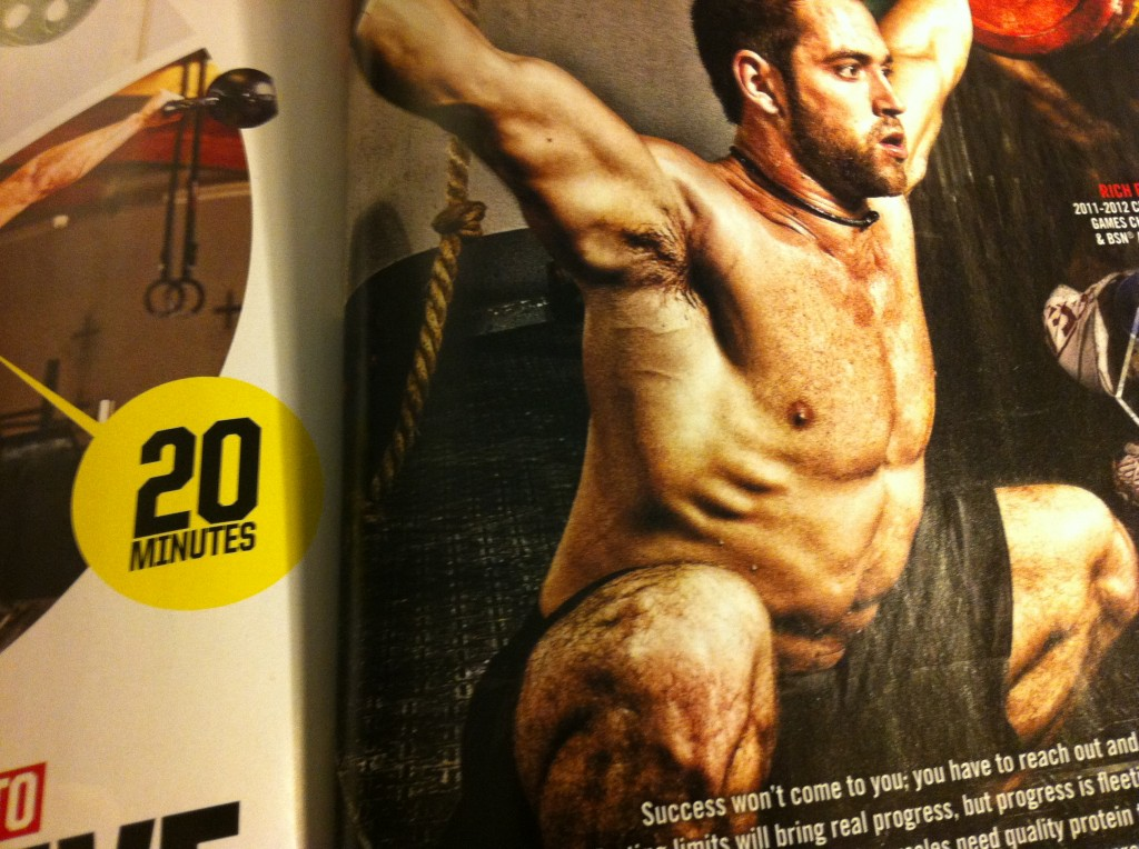 Rich Froning Jr. without Galatians 6:14 in Muscle and Fitness