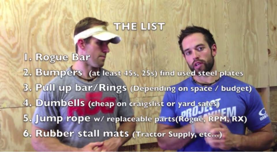 Rich froning s equipment advice for your garage gym