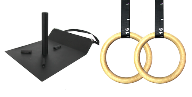 Urban Fitness Supplies Second Prize Power Sled and Wooden Gym Rings